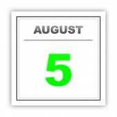 picture of august calendar  - August 5 - JPG