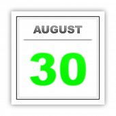 picture of august calendar  - August 30 - JPG