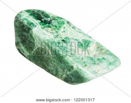 Green Jadeite Mineral Gemstone Isolated