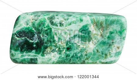 Pebble Of Green Jadeite Mineral Gem Stone