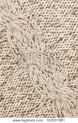 White And Brown Knitted Textured As Background