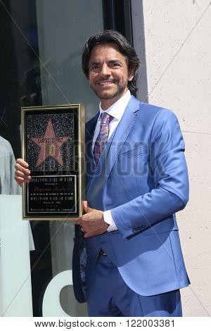 LOS ANGELES - MAR 10: Mexican actor Eugenio Derbez at a ceremony where Eugenio Derbez is honored with a star on the Hollywood Walk of Fame on March 10, 2016 in Los Angeles, California