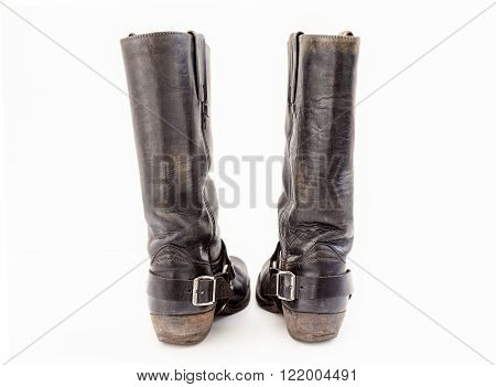 Pair Of Vintage Boots Isolated On White Background
