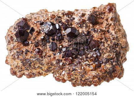 Piece With Andradite (melanite, Garnet) Stones
