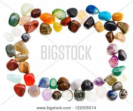 Rectangular Frame From Natural Mineral Gemstones