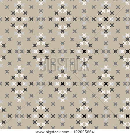 Seamless Abstract Cross Stitch Embroidery Pattern