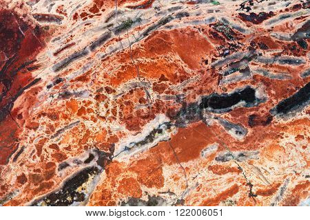 Texture Of Red Brecciated Jasper Mineral Gem Stone
