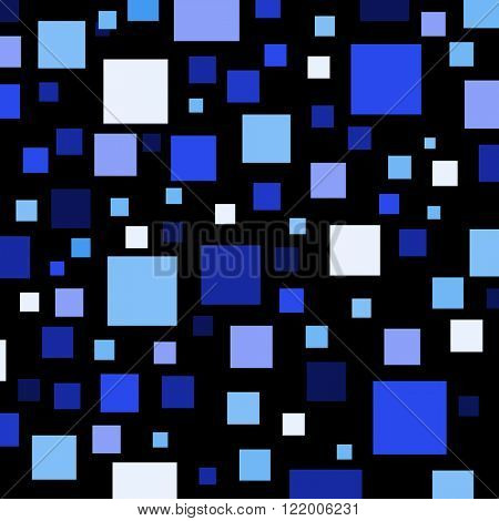 Blue color squares on black.