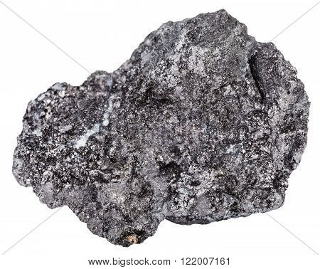 Piece Of Graphite Gemstone Isolated