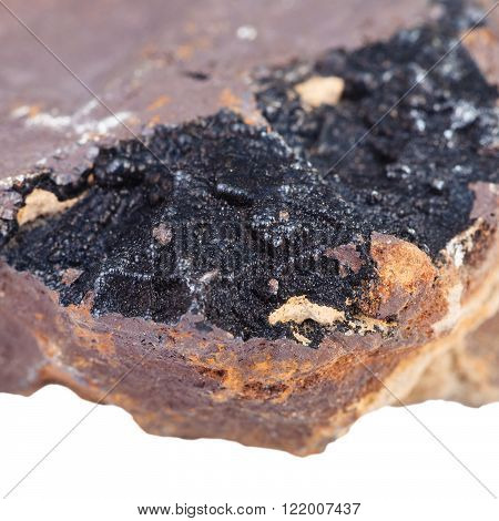 Goethite Mineral On Limonite Brown Iron Ore