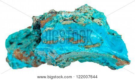 Piece Of Blue Chrysocolla Mineral Gemstone
