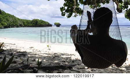 Panoramic picture of Cetti Bay on the island of Guam