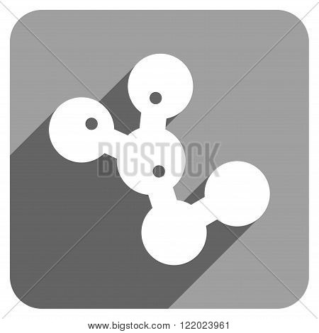 Microbes Colony long shadow vector icon. Style is a flat microbes colony iconic symbol on a gray square background.