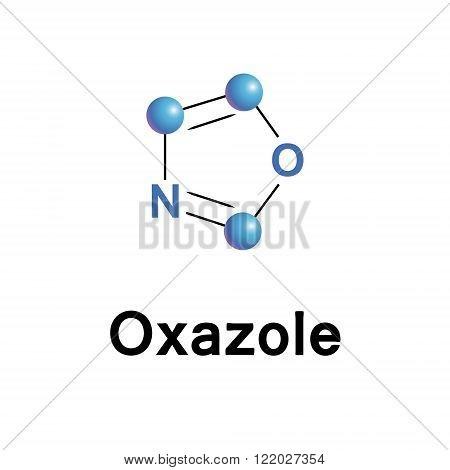 Oxazole vector illustration.