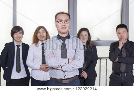 Group of smiling business people. Business team.
