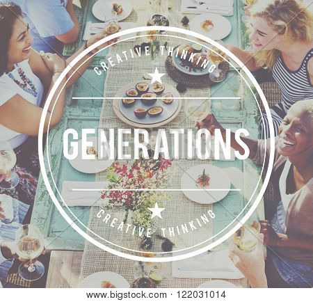 Friends Relationship Hanging Out Meal Celebration Concept