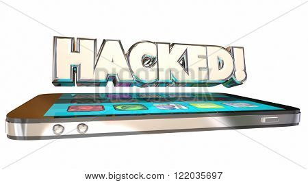 Hacked Cell Smart Phone Personal Information Crime Theft Data Loss