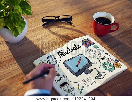 Illustrate Design Graphic Art Visual Concept