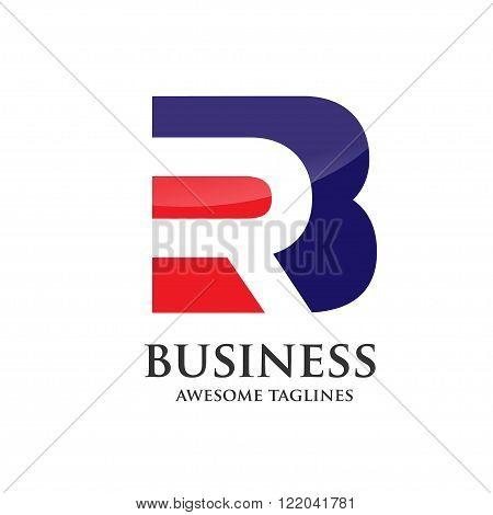 modern  BR, RB letter property logo vector