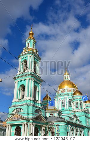 Epiphany Cathedral on the street Spartakovskaya in Moscow, Russia