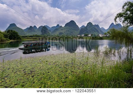 Scenic Guilin Mountain Range