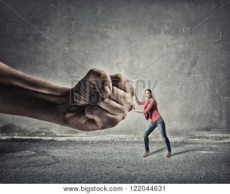 Woman undergo authority power