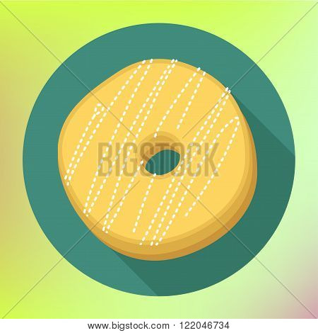Donut flat icon. Doughnut pictogram.