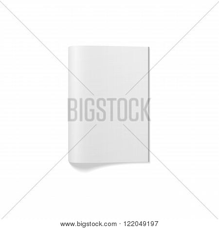 Empty closed Magazine or Booklet Template. Vector Illustration