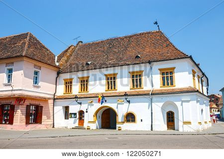 Medias, Romania, 08 July 2015: Historical Centre Of Medias, Medieval City In Transylvania, Romania