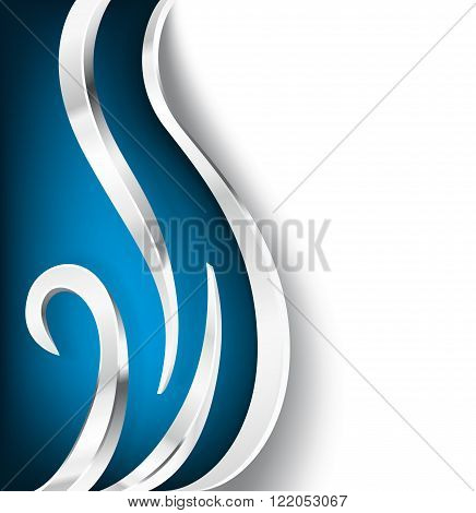 blue and silver metallic design elements. vector