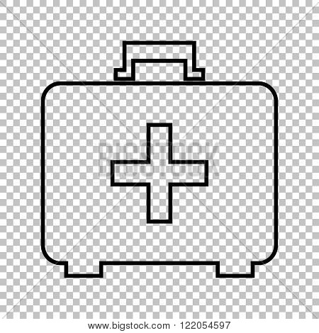 First aid box line vector icon