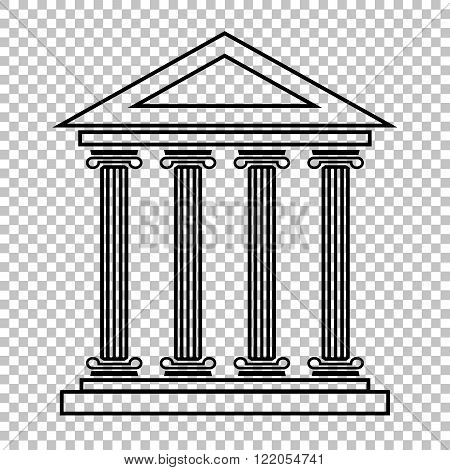 Historical building line vector icon