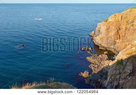 Summer Sea Rocky Coast.