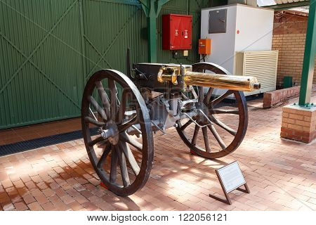 Maxim-nordenfelt Machine Gun Designed In 1885