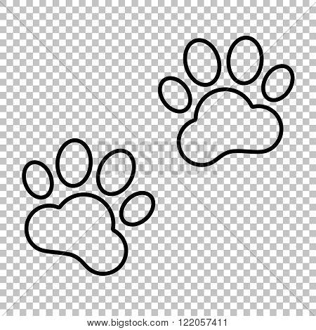 Animal Tracks  line vector icon
