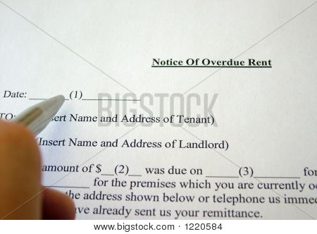 Notice Of Overdue Rent