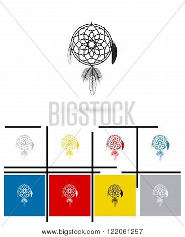 Dream catcher icon or dream catcher sign. Vector dream catcher pictogram