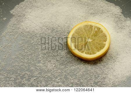 FRESH SPRİNG SALTY SOUR YELLOW LEMON SLİCE