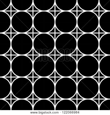 Vector modern seamless geometry pattern black and white abstract geometric background subtle pillow print monochrome retro texture hipster fashion design