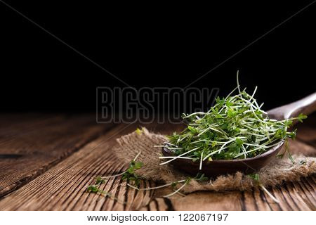 Portion Of Fresh Garden Cress