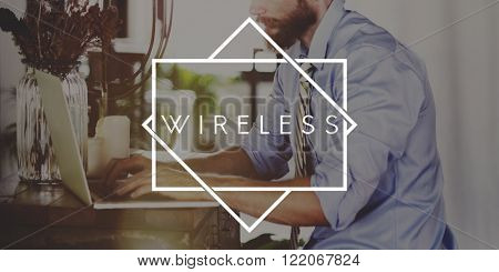 Wireless Hotspot Technology Sharing Networking Concept