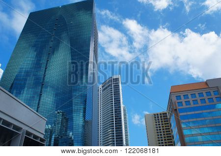 Skyscrapers of Miami (Espirito Santo Plaza) United States.