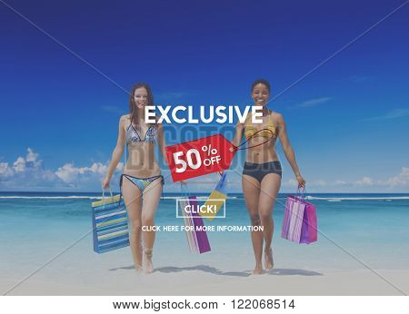 Exclusive Discount Limited Luxury Offer Private Concept