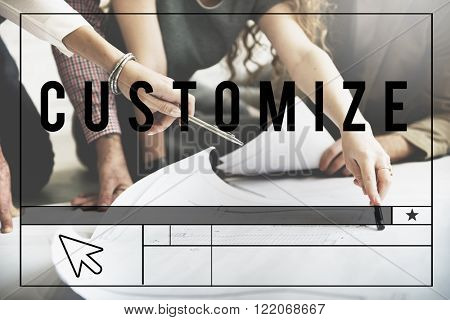 Customize Create Innovate Modify Creativity Concept