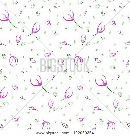 Floral easy pattern, flowers beautiful concept pattern