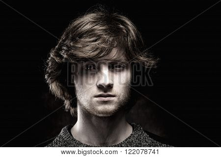 Portrait of a Young Man with Brown Hair.