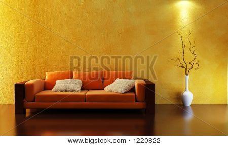 Sofa 3D-Rendering