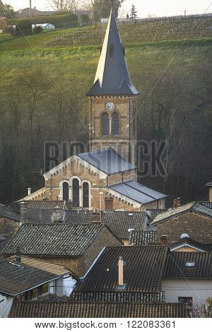 Church Of The Village Of Saint Julien, Beaujolais, France