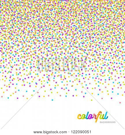 Abstract celebration or party background with multicolor confetti - vector illustration
