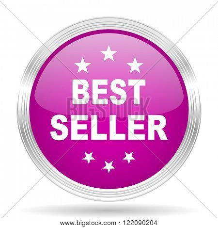 best seller pink modern web design glossy circle icon